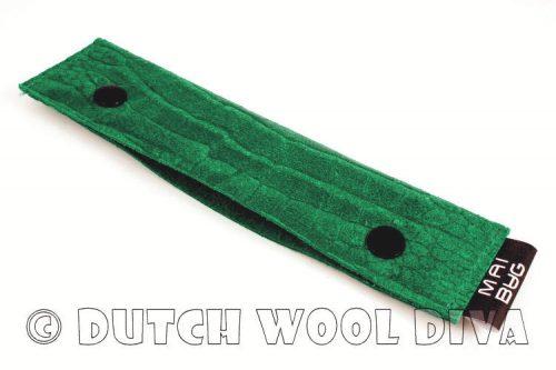 Sokkennaaldenmapje Groen Croc