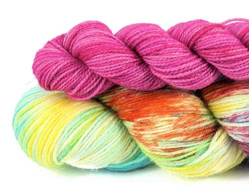 Garen Set Maart Handgeverfde sokkenwol